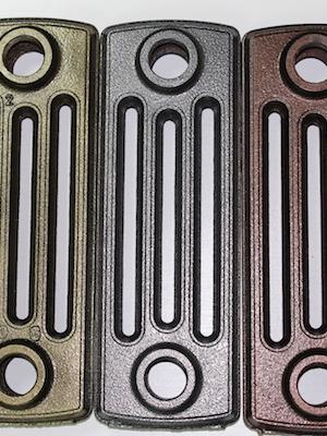 Секции чугунного радиатора RETROstyle Derby. Цвета: антик золото, акнтик серебро, акнтик медь.